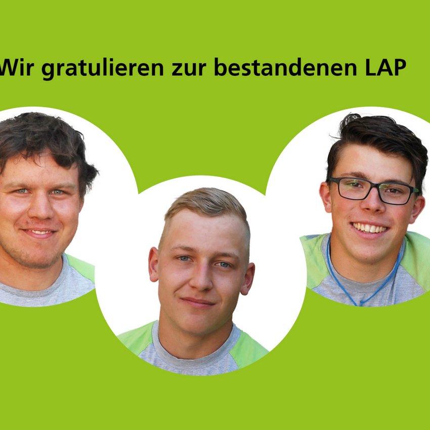 Prüfungserfolg LAP 2020 Zimmermann EFZ bei HUSNER