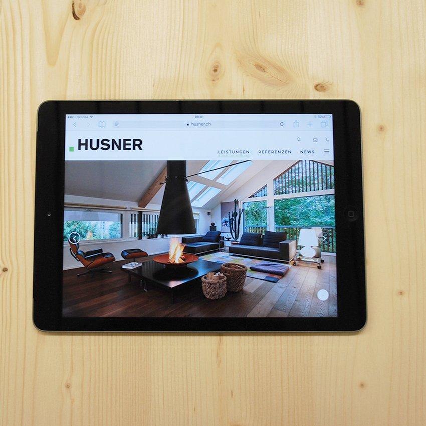 Neue Website HUSNER www.husner.ch