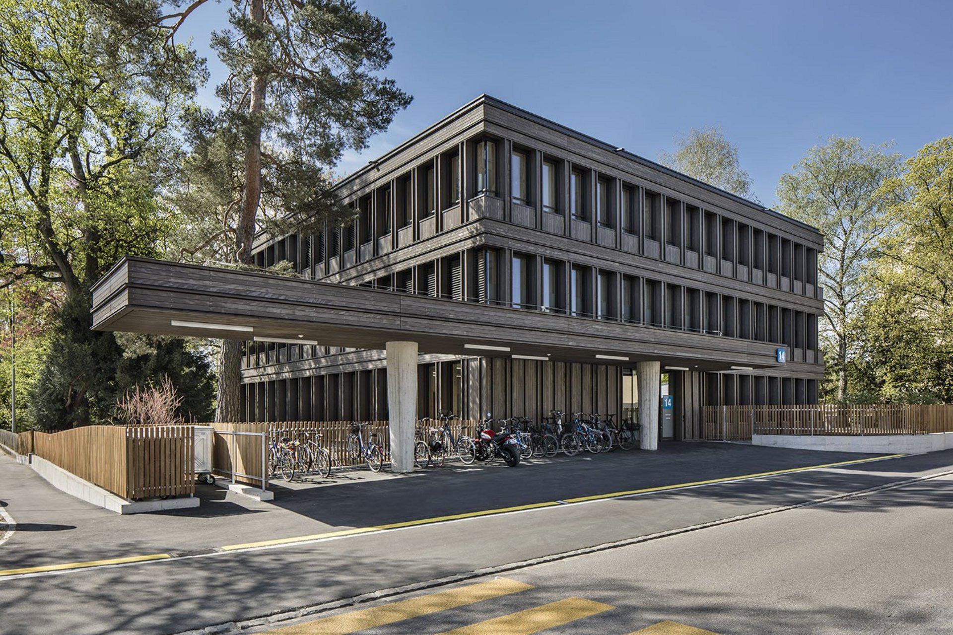Aarau, Architektur, Holzbau, Holzfassade, Kantonsspital Aarau, Neubau, Therapiezentrum