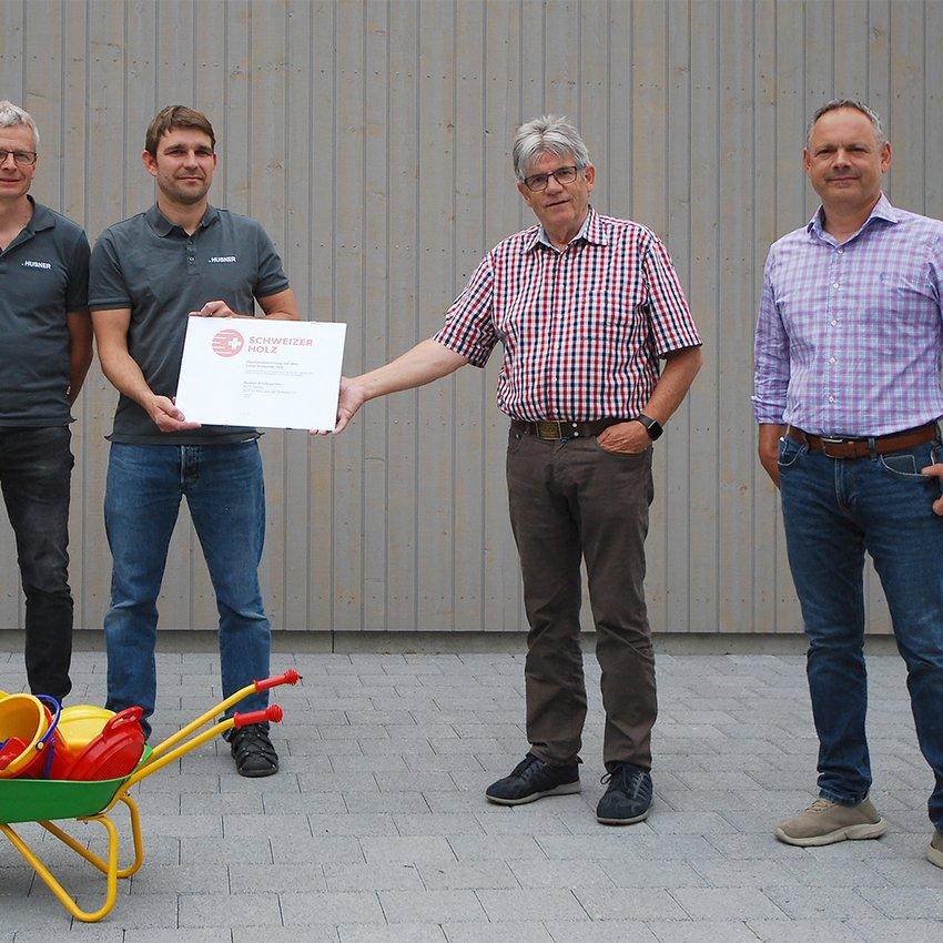 Kindergarten Zeihen Auszeichnung Label Schweizer Holz