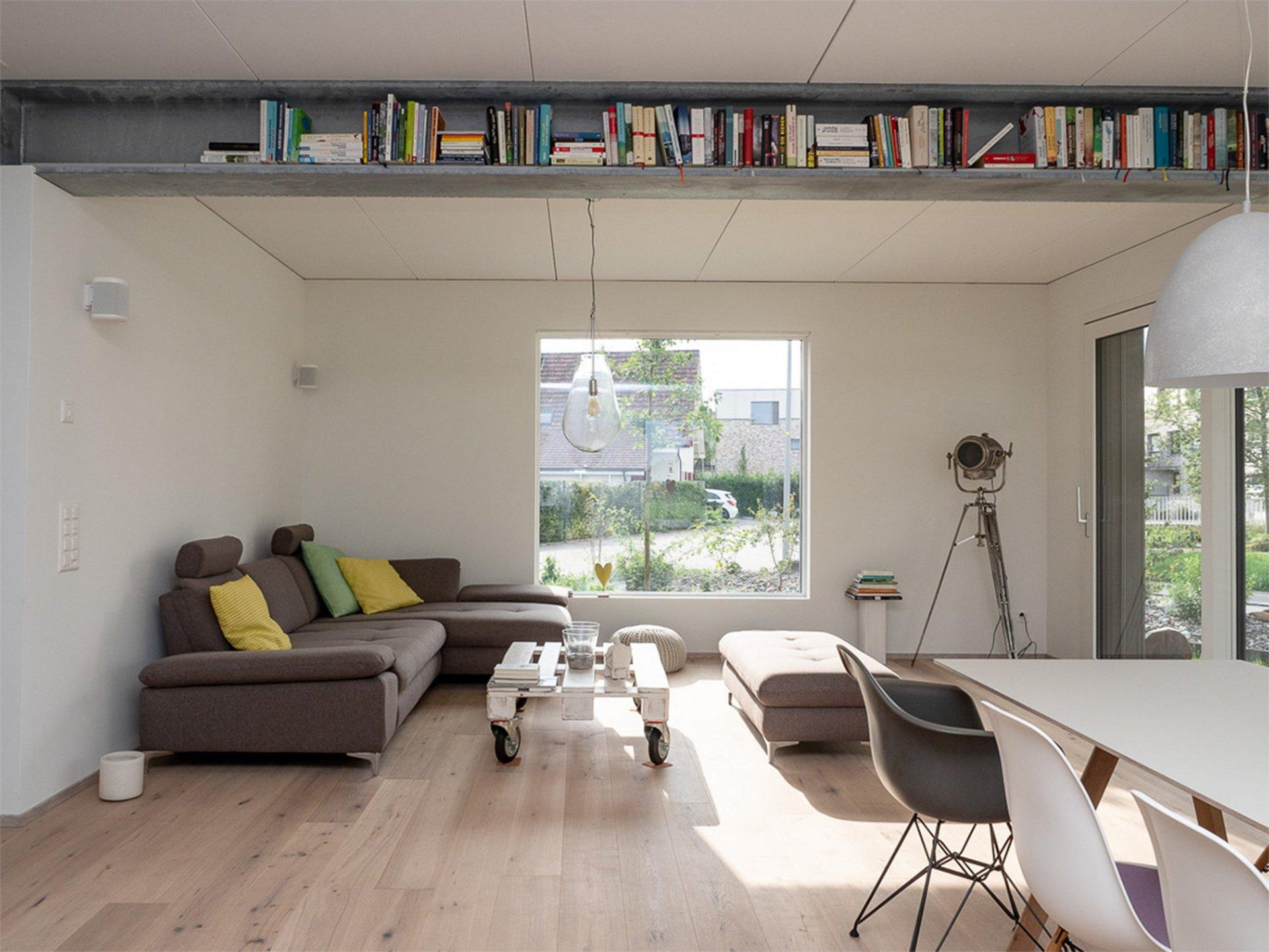 Einfamilienhaus in Elementbauweise mit Parkettboden