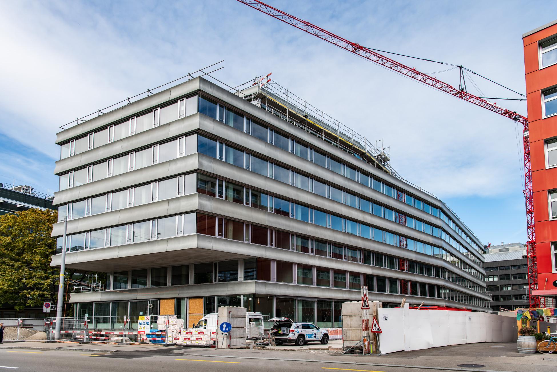 ERNE Besichtigung Neubau Kriminalabteilung Stadtpolizei Zürich