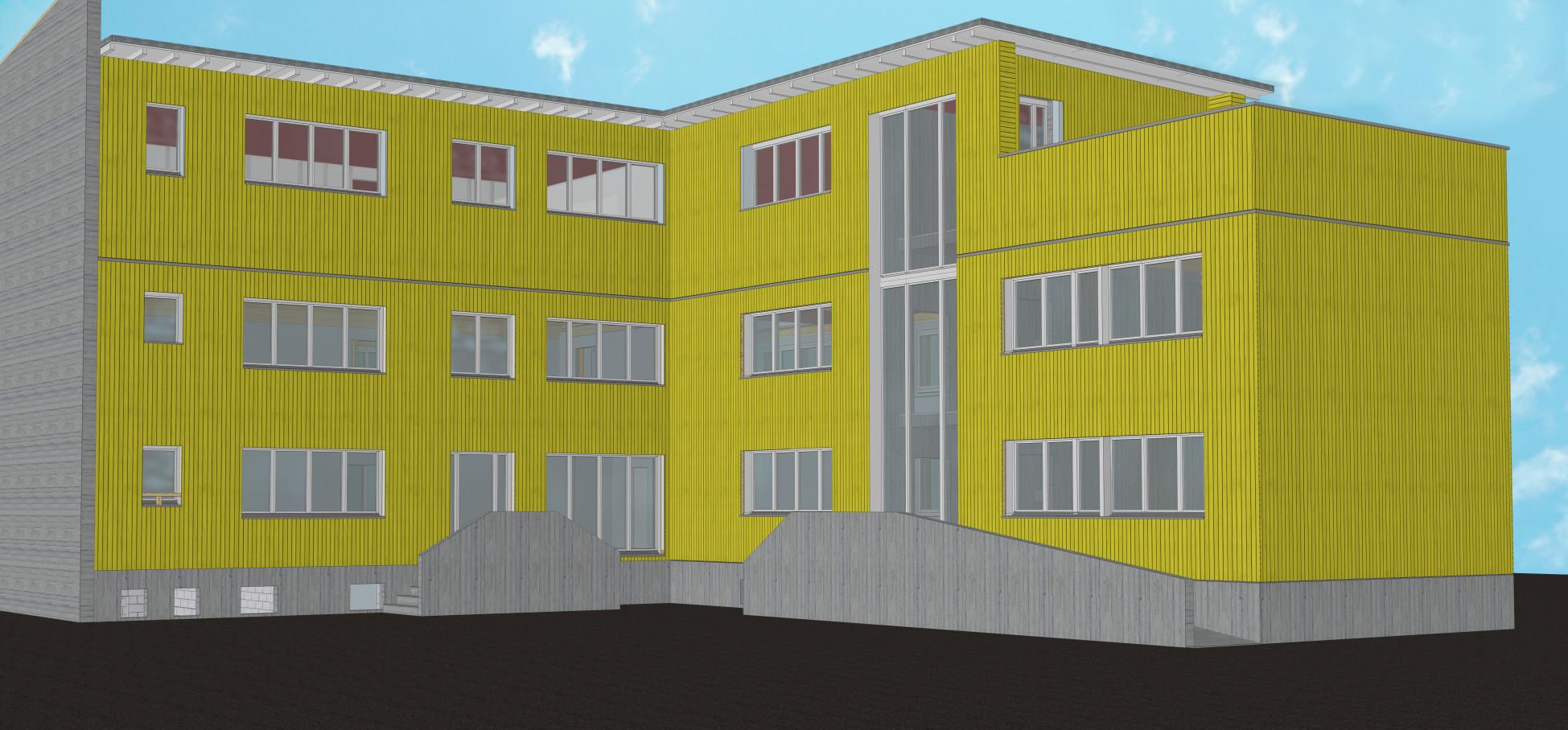 Aufstockung HUSNER AG Holzbau Frick Bürogebäude
