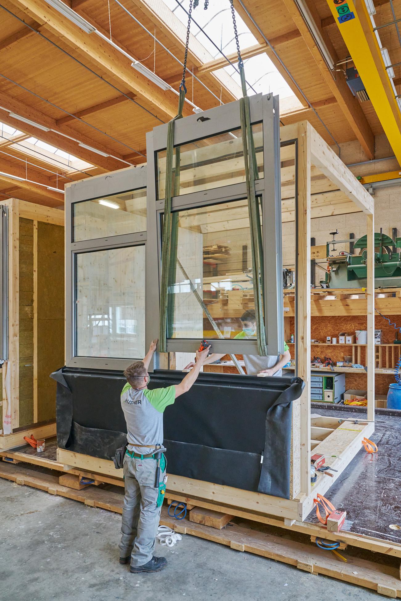 Re-Use Wiederverwendete Baumaterialien Modulbau Dübendorf Empa Neubau Büromodule Unit Sprint