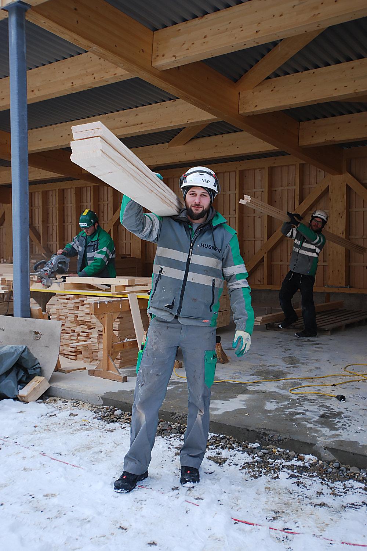 Werkhof Bad Zurzach Werkhof Montage Fichtenschalung