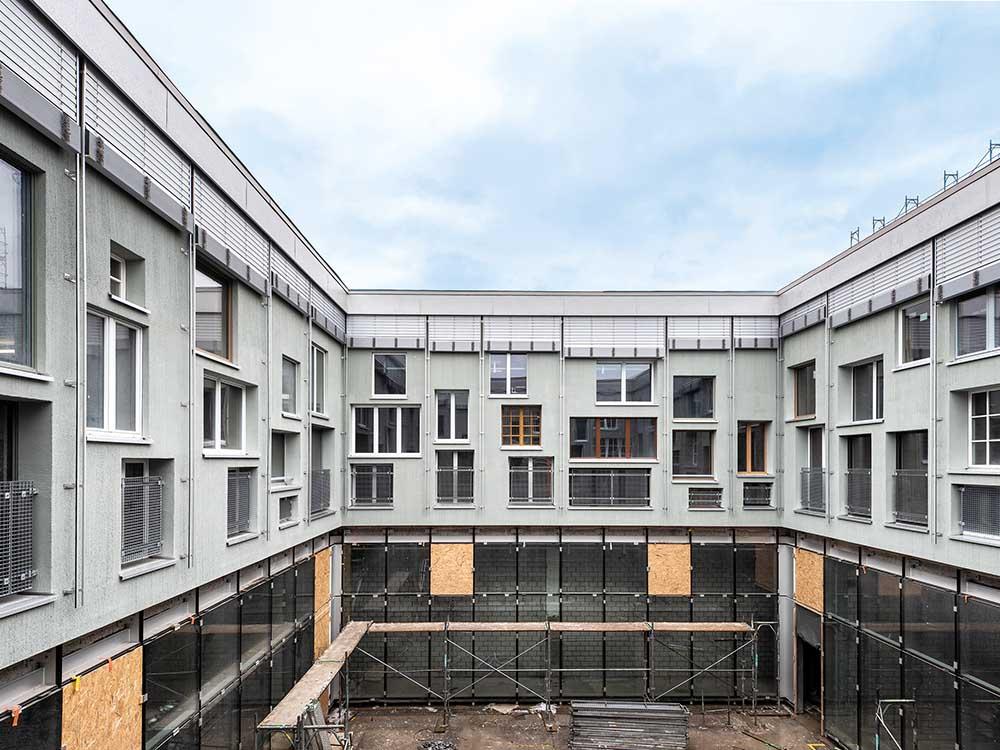 Neubau Fassade Lysbüchel-Areal, Basel