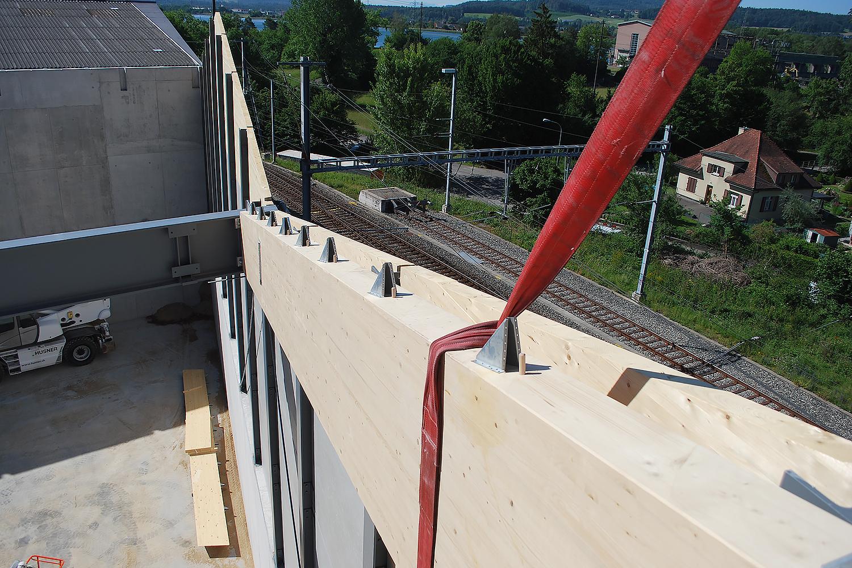 Holz-Stahl-Konstruktion