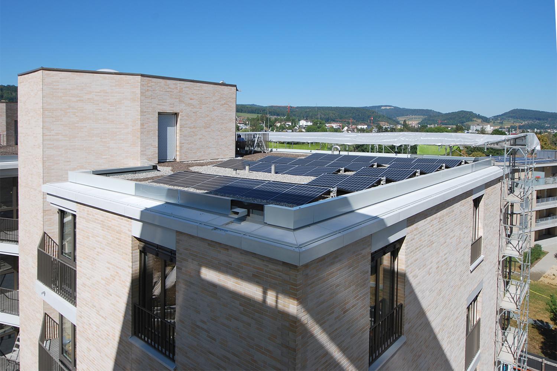 Liestal Neubau Wohnüberbauung Grammet Fassadenbau Montage Glasfaserbetonelemente