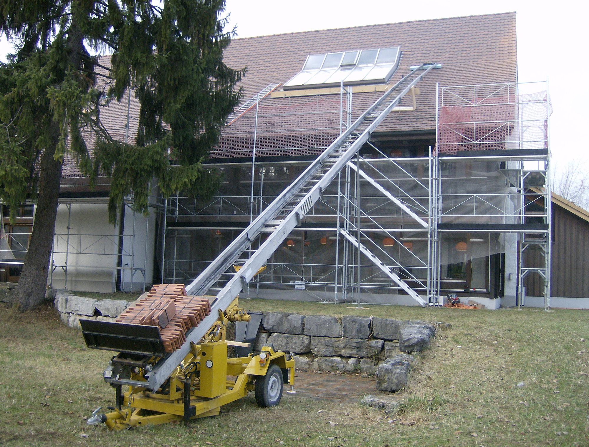 Vermietung von Bauaufzug bei HUSNER