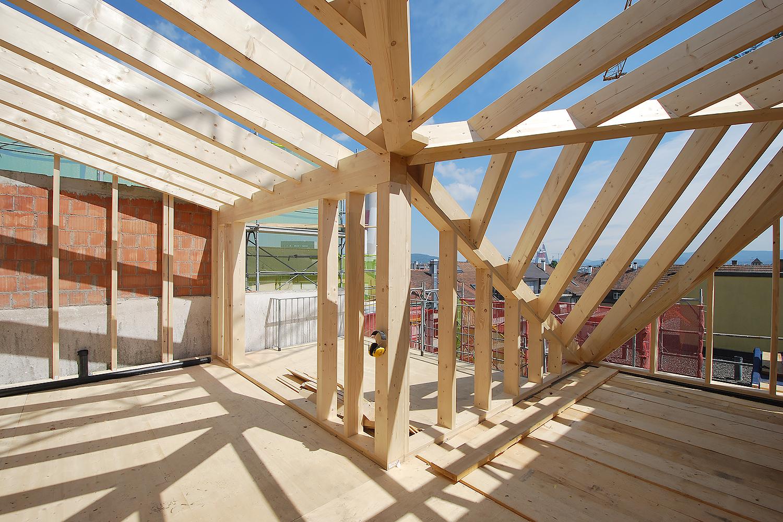 Knotenpunkt von 3 Dachflächen und 2 Wandflächen