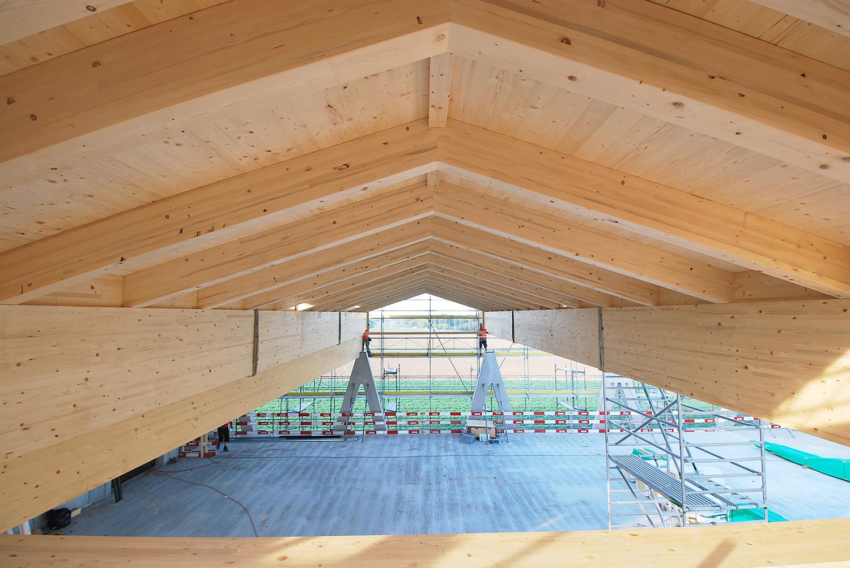 HUSNER Holzbau Dachelemente für den Werkhof von ERNE