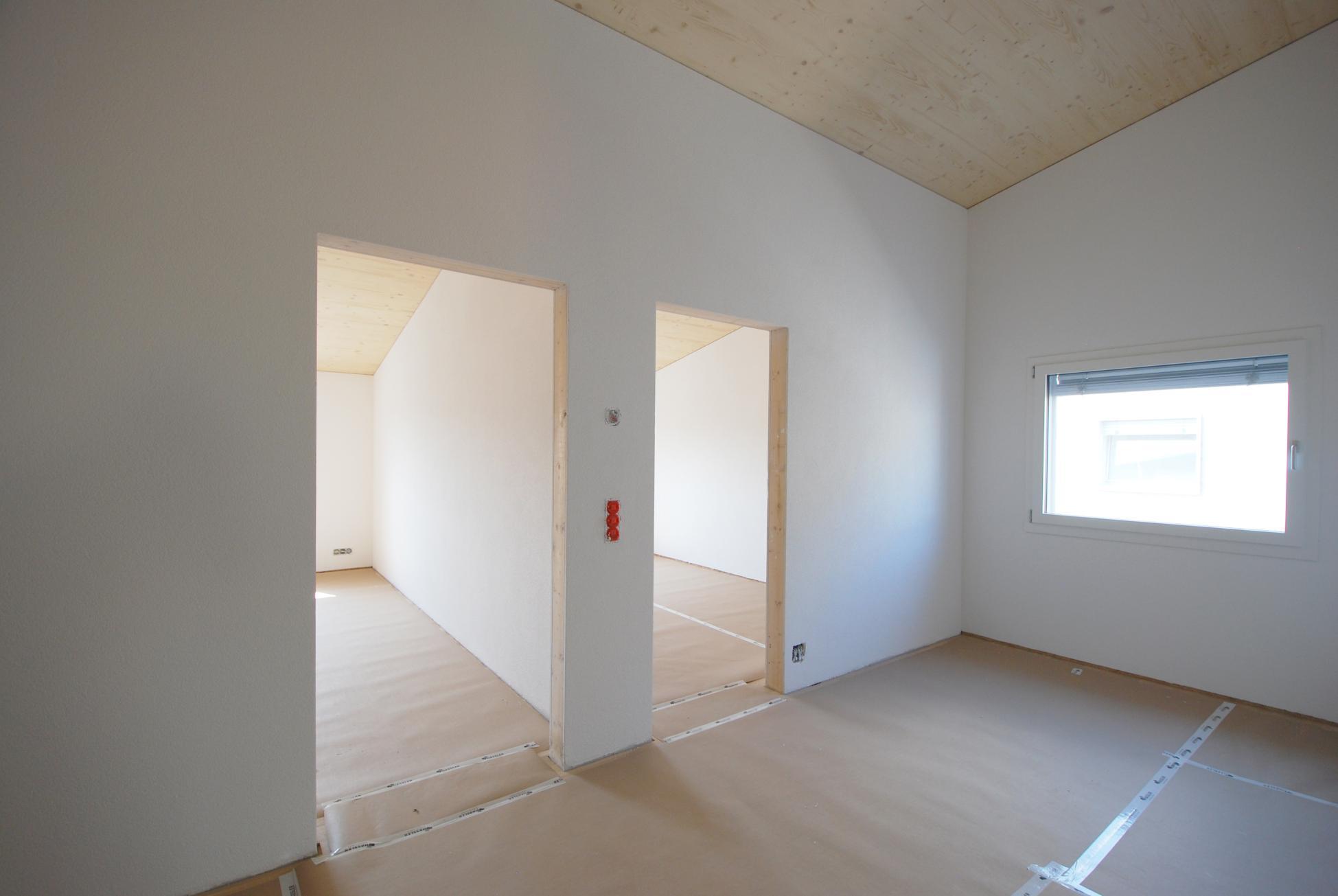 Lichtdurchflutete Reiheneinfamilienhäuser Visavie in Sarmenstorf in Holzbauweise