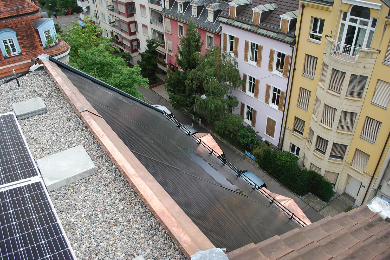 Aufstockung MFH mit Photovoltaikanlage, Basel